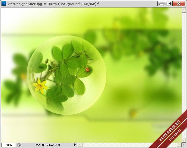 Lồng ảnh vào quả cầu pha lê trong Photoshop