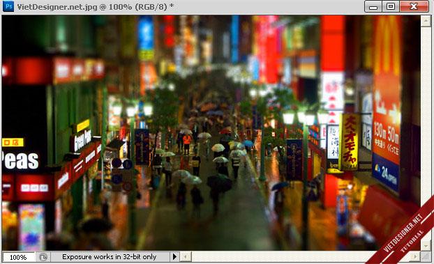 Hướng dẫn tạo một bức ảnh Tilt-Shift bằng Photoshop