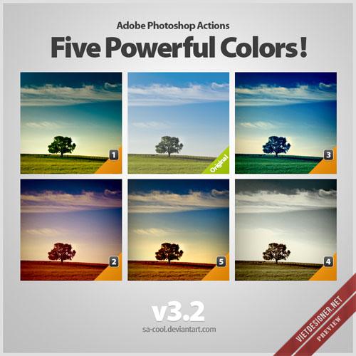 21 bộ action blend màu ảnh Vintage & Retro