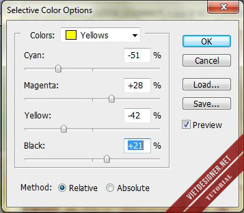 Blend màu Vintage với tông màu chủ đạo tím vàng