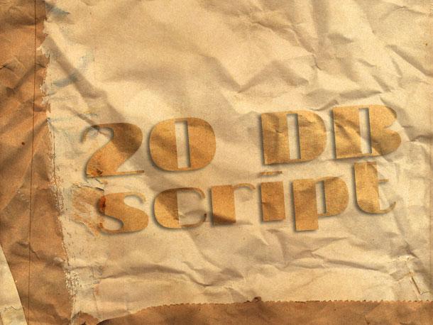 18. 20 DB Script