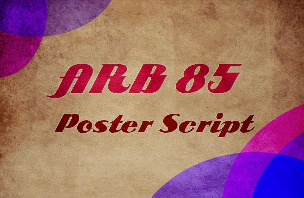 9. ARB 85 Poster Script
