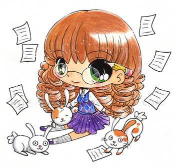 Những bức vẽ tô màu Chibi đáng yêu ngộ nghĩnh của YamPuff