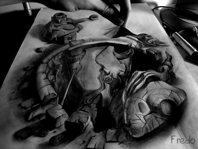 Tổng hợp những bức tranh vẽ 3D kinh điển của Fredo
