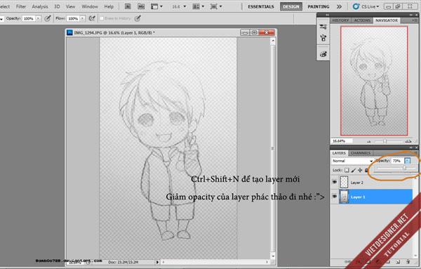 Bài hướng dẫn vẽ Chibi của bạn BambOo Graffiti