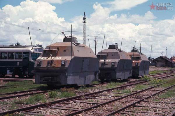 Tháng 6/1969. Những toa tàu bọc thép trên sân ga Sài Gòn.