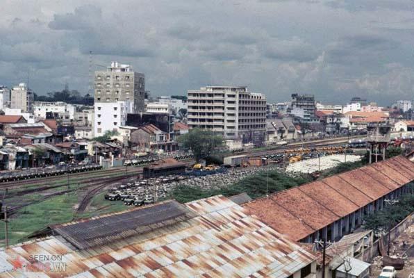 Tháng 11/1968. Ga Sài Gòn nhìn từ tầng 5 khách sạn Walling.