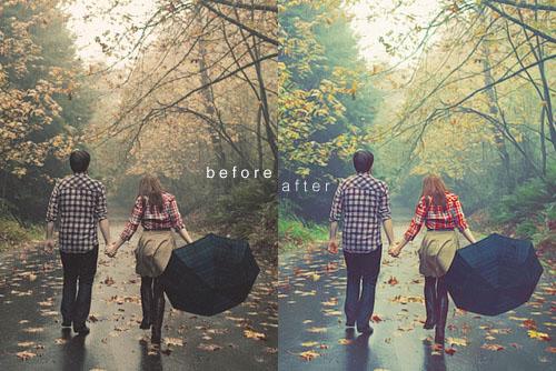 Trước và sau khi chuyển màu