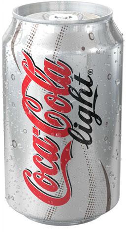 Đây là một sản phẩm khác của Coke với tên gọi là Coke Light với thiết kế nền trắng chữ đỏ. Điều đặc biệt ở đây là chữ light lại là mầu đen. Thể hiện sự phá cách trong thiết kế mới