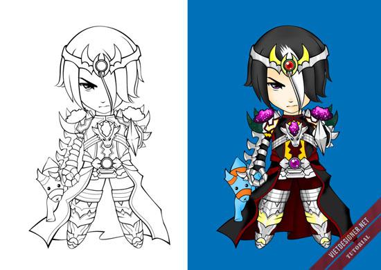 Trước và sau khi lên màu
