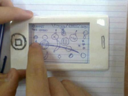 """Trò chơi chém hoa quả trên """"iPhone 5Gs""""."""