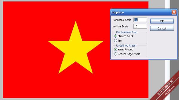 Cách tạo nên một lá cờ 3D dễ dàng trong Photoshop