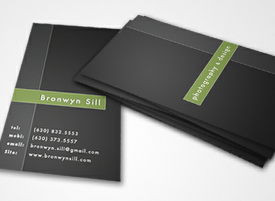 Bronwyn Sill Photography Business Cards