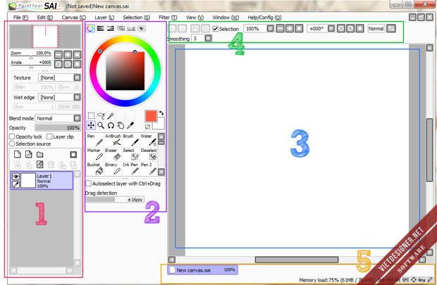 Paint tool SAI - Công cụ tô màu Manga tuyệt vời