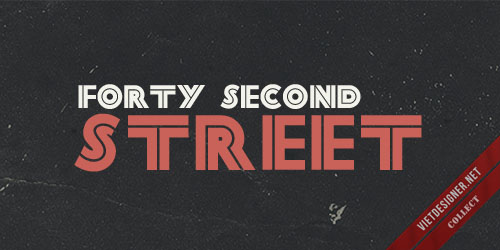 Forty Second Street (TrueType Font)