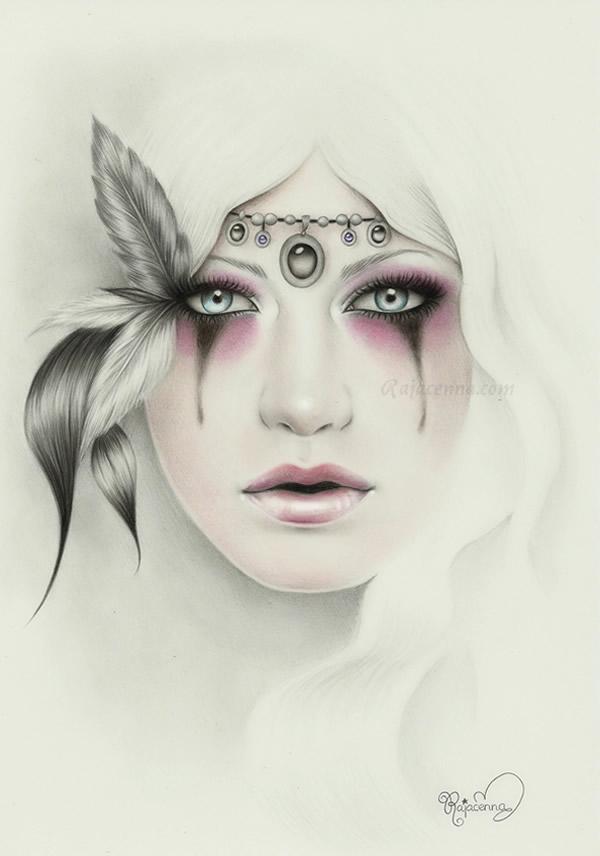 Những tác phẩm tranh vẽ đẹp như ảnh chụp của Rajacenna