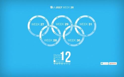 Bộ wallpaper tháng 7 năm 2012 (kèm theo lịch và không có lịch)