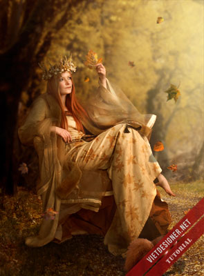 """Hướng dẫn làm tác phẩm manip với tên gọi """"Nữ hoàng mùa thu"""""""