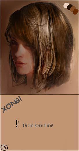 Digital Painting - Hướng dẫn vẽ 1 mái tóc thật sống động