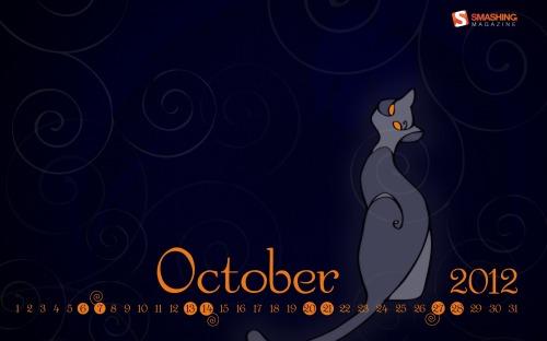 Bộ wallpaper tháng 10 năm 2012 (kèm theo lịch và không có lịch)