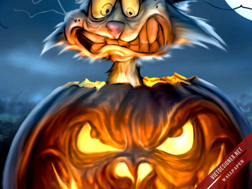 Ảnh demo bộ hình nền Halloween