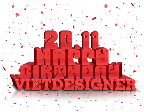 Đây là tác phẩm mình làm tặng riêng cho sinh nhật của Việt Designer vừa rồi